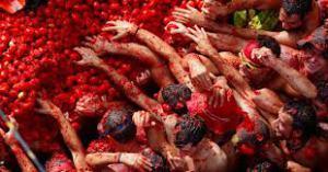 Tomatfestival i Bunol Spanien