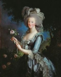 Vigèe Le Brun porträtt av Marie Antoinette